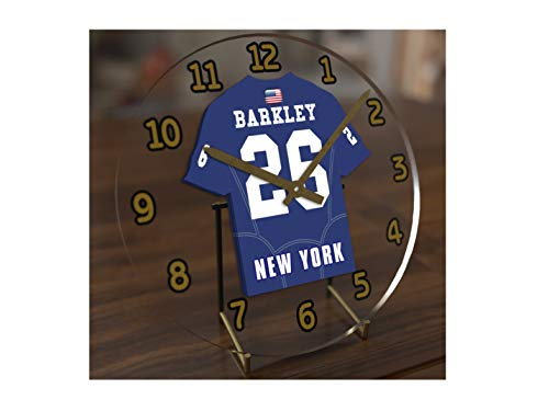 FanPlastic SAQUON Barkley 26 New York Giants Desktop Clock - National Football League Legends Edition !!