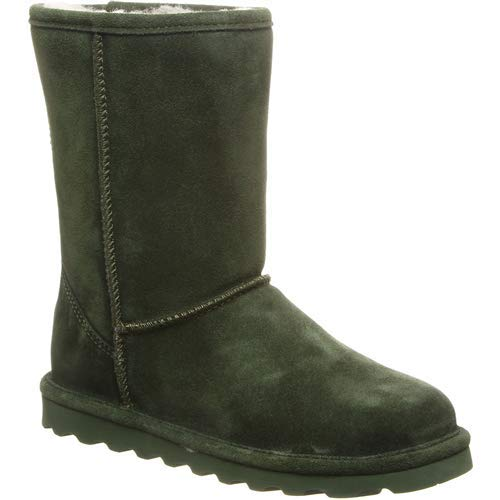 - BEARPAW Women's ELLE Short Fashion Boot, Forest, 6 M US