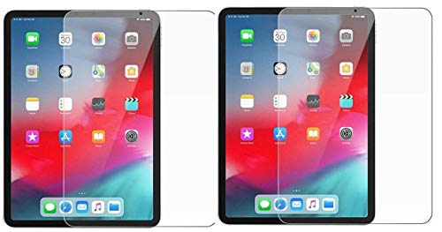 Colorcase  Pack of 2  Tempered Glass Screenguard for Apple Ipad Pro 11  2018 Tablet   [Transparent}