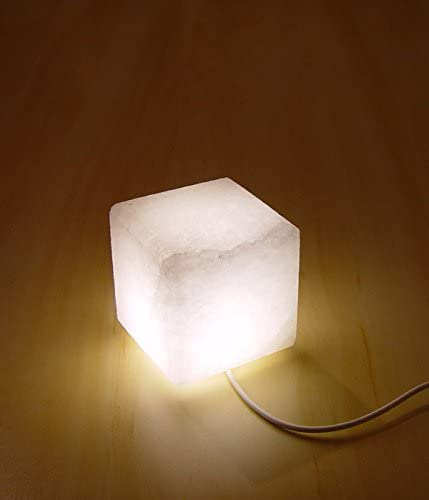 Salt Candle Holder White Cube /& Square Therapeutic Himalayan Rock Salt Crystal