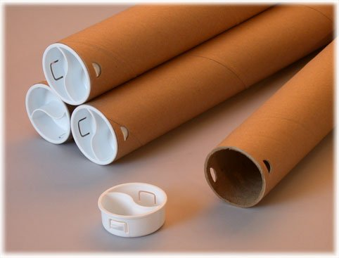 Erdie Industries Twist-N-Pull Mailing Tube, Brown Kraft, 12 Pack, 2 1/2' ID, 18' Length