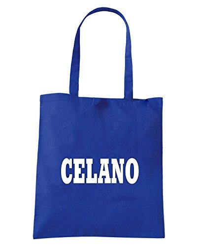 T-Shirtshock - Bolsa para la compra WC1001 CELANO ITALIA CITTA STEMMA LOGO Azul Real