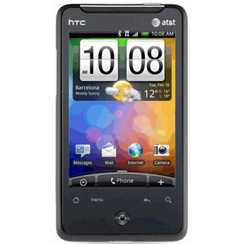 HTC Aria Black WiFi Android GSM QuadBand 3G At&t Cell Phone