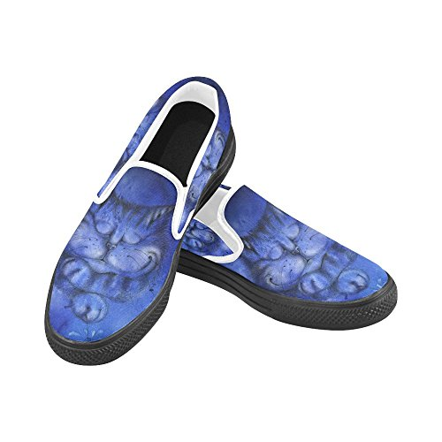 Unique Debora Personalizza Scarpe Da Donna Fashion Mocassini Insoliti Slip-on Canvas Shoes Multicoloured44