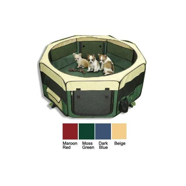 topPets Large Portable Soft Pet Soft Side Play Pen Or Kennel for Dog Cat Or Other Small Pets. Great for Indoor and… Click on image for further info.