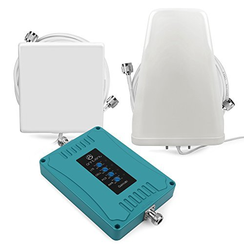 Home Multiple Band Cell Phone Signal Booster Repeater Kit for All US Carriers GSM/3G/4G LTE - Enhance Indoor Cellular Signal Cover Up to 3,500 Sq ()