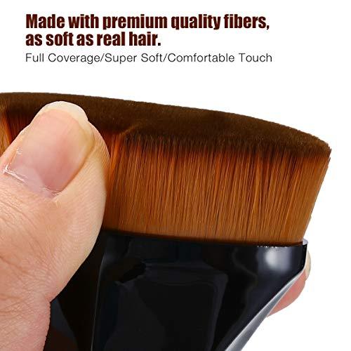XZYZYW Foundation brush, used to mix liquid, cream or flawless powder makeup, with lid (black)