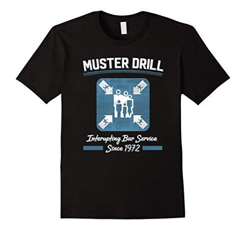 - Mens Muster Drill Cruise Ship Funny Cruising T Shirt 3XL Black