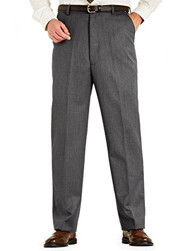 Chums Mens Woolblend Cavalry Twill Formal Smart Quality Trouser Grey 32W x 31L