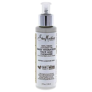 SheaMoisture 100% Virgin Coconut Oil Daily Hydration Face Milk Cleanser | 4 fl.oz.
