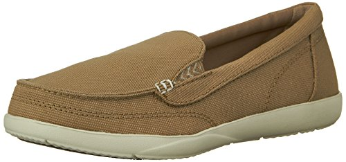 Crocs Women's Walu II Canvas Loafer, Khaki/Stucco, 7 M US