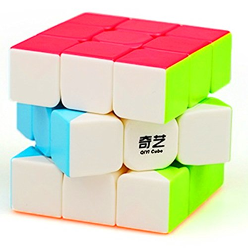 CuberSpeed QiYi Warrior W 3x3 Stickerless Speed Cube Puzzle Warrior W 3x3x3 Stickerless Magic Cube