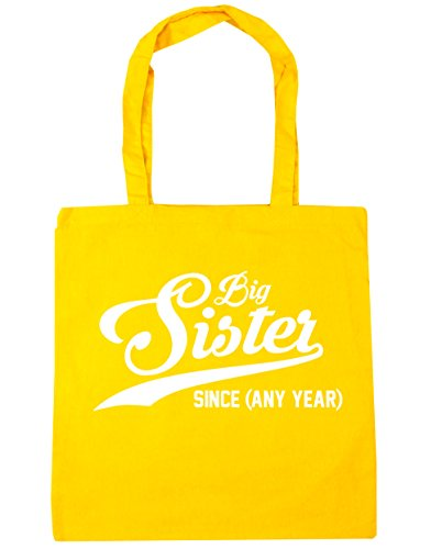 Any litres 42cm Yellow Shopping Tote Since Big HippoWarehouse x38cm PERSONALISED 10 Sister Gym Bag Beach Year PTIFxqU