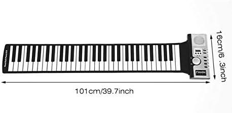 IBISHITAOXUNBAIHUOD 61 teclas de teclado plegable de mano portátil ...