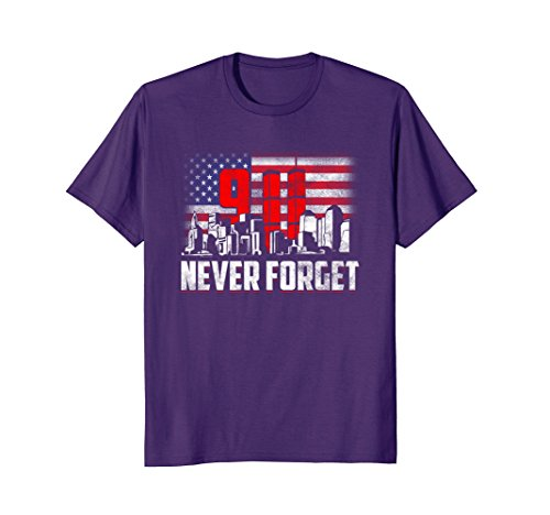 Mens Never Forget 9-11! Patriot Day T-Shirt XL - Fashion Center Pentagon