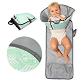 SnoofyBee Large Baby-Changing Travel Pad Diaper Clutch, Accessories for Babies Clean Hands Changing Pad Excursion Edition (Mint Arrow)