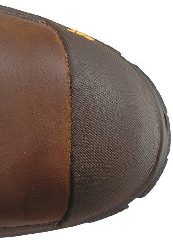 Caterpillar Mens Waterproof Waterproof Nano Toe Brown Boot Industriale Marrone Scuro