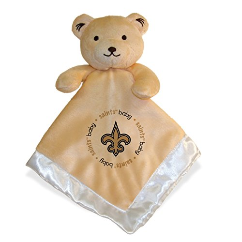 New Orleans Saints White Trim Baby Security Snuggle Bear Blanket - 14