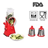 Fruit & Vegetable Slicer, Chopper, Grater, Shredder Hand Crank...
