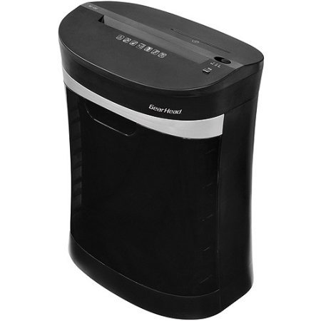 12-Sheet Cross-Cut Home Office Shredder with CD & DVD Slot, Black by Gear Head Shredder