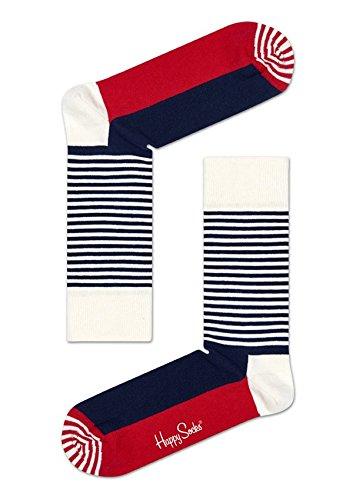 Happy Socks Half Stripe Sock Red,White 41-46