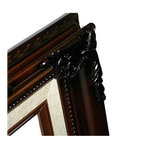 MyFrameStore 16x20 Imperial Wooden Picture Frames - Dark Mahogany | Exclusive Floral Design for Wedding, Hallway, Bedroom, Living Room & Office Décor. Wall Photo Frame & Wall Mounting Material,