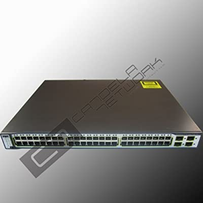 Cisco WS-C3750-48PS-S Catalyst 3750 48-Port Multi-Layer Ethernet Switch with PoE - 48 x 10/100Base-TX