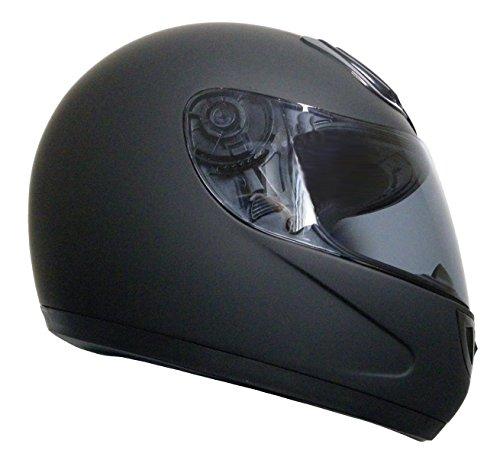 Integralhelm Helm Motorradhelm RALLOX 510-1 schwarz/matt (S, M, L, XL, XXL) Größe L