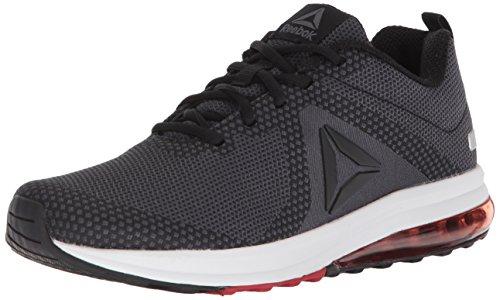 Reebok Men's Jet Dashride 6.0 Sneaker, Black/Ash Grey/Primal Red/White/Silver Metallic, 9 M (Primal Wear Mens Air)
