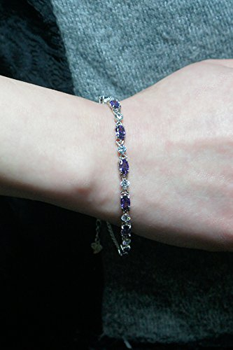 Generic Thai Love your noble 925 sterling silver amethyst bracelet women girls lady Korean version of sweet jewelry to send his girlfriend a birthday gift by Generic