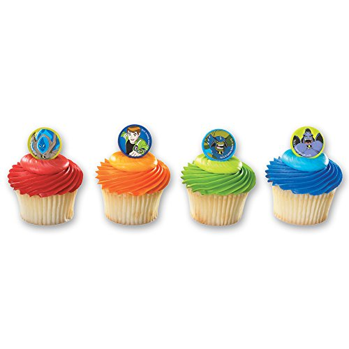 DecoPac Superhero Aliens Cupcake Rings