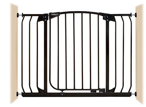 - Bindaboo Hallway Pet Gate, Swing Closed, Black