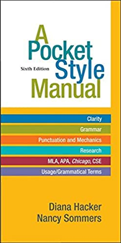 amazon com a pocket style manual 9780312542542 diana hacker rh amazon com APA Style Format Sample Paper APA Style Paper