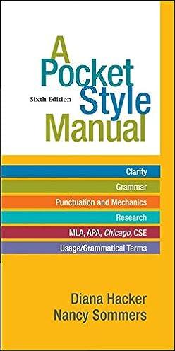 amazon com a pocket style manual 9780312542542 diana hacker rh amazon com APA Manuscript Format MLA Manual