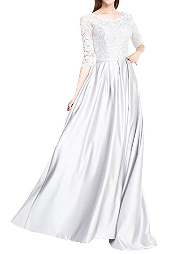 Formal Bridal Half A2 Floral Ballgown Lace Scoop Maxi Annies Prom Long Sleeve Dress 15qw7
