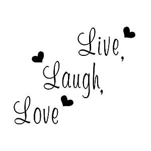 Live Laugh Love Wall Sticker   TOOGOO(R)Live Laugh Love Wall Sticker Home  Decor Art Saying Words Phrases Decals Part 81