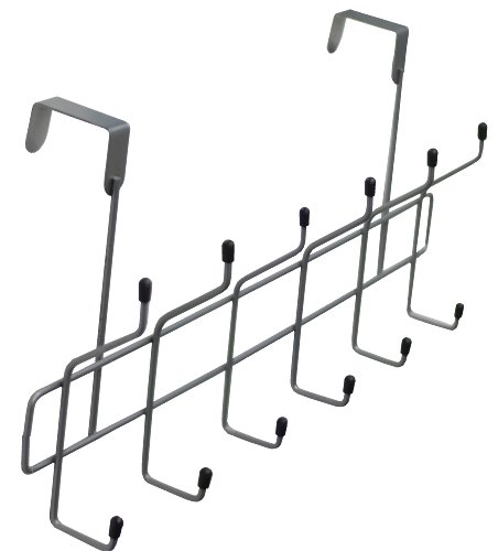 Southern Homewares Over The Door 12 Hook Storage Rack Chrome Plated Bed Or Bathroom