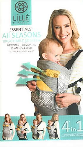 Líllébaby Essentials All Seasons 360 Baby Carrier - Breathable 3D Mesh, Park Place