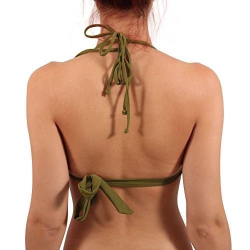 Diesel Mujer Triángulo Bikini parte superior Calypso Bra en oliva Verde