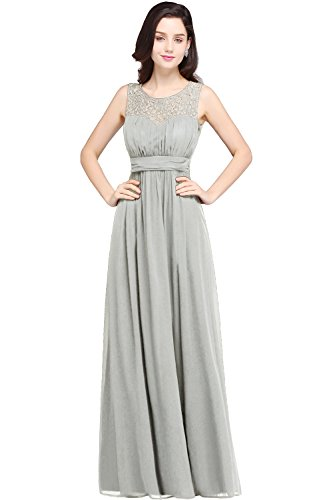 Babyonline Sleeveless Lace Chiffon Maxi Mother of The Bride Dresses,16