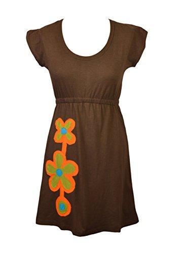 Femmes robe sans manches avec broderie de fleurs et le patch Design- NEW SAYAPATRI