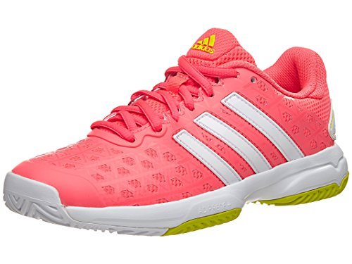 Adidas Barricade Club Juniors Tennis Shoe 7 Flash Red-Whi...