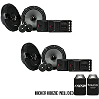 Kicker KSS6504 KSS650 6.5 Component system with 1 tweeters 4-Ohm bundle