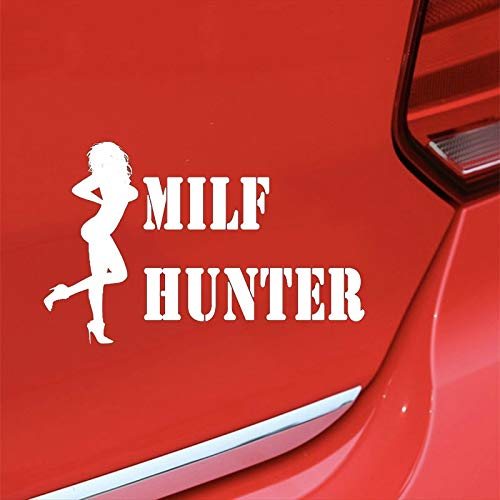 MILF HUNTER For Auto Car/Bumper/Window Vinyl Decal Sticker Decals DIY Decor CT445 - (Color Name:, Style: 64X40CM(25.2X15.7in))