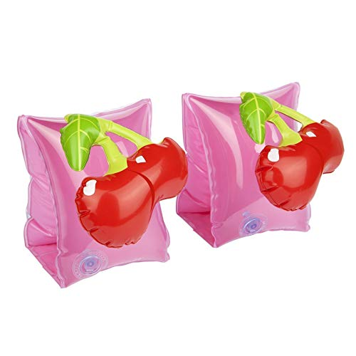Sunnylife Inflatable Swimmies for Kids, Child Arm Band Swimming Pool Floaties - Cherry Pink