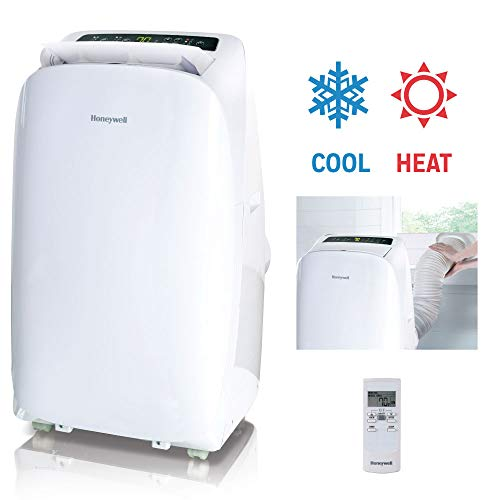 Honeywell, White HL14CHESWW Portable Air Conditioner with Heat Pump, Fan & Dehumidifier with Thermal Overload Protection, 14, 000 BTU from Honeywell