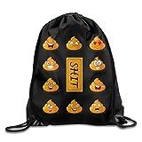 Pyuang Poop Emoji Fashion Casual Travel Drawstring Backpack Shoulder Bags Gym Bag Sport Bag