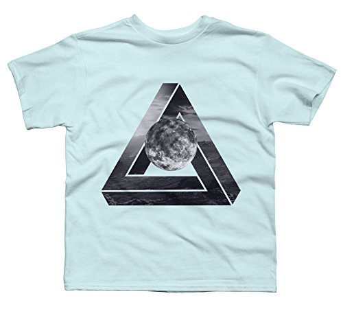 Penrose triangle Boy's Medium Light Blue Youth Graphic T Shirt