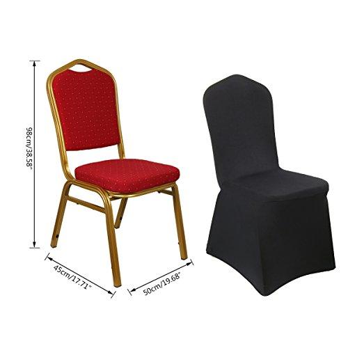 cusfull 10 st ck stuhlhussen stretch spandex stuhl berzug polyester schwarz ebay. Black Bedroom Furniture Sets. Home Design Ideas
