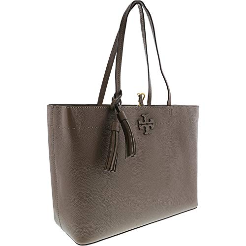 Tory Burch Women's Mcgraw Leather Top-Handle Bag Tote - Silver ()